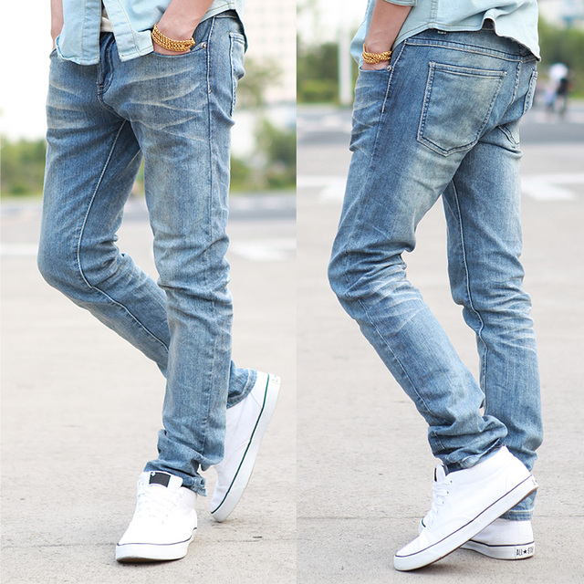 Cattle 32 non-mainstream elastic slim jeans skinny jeans male p55 -345