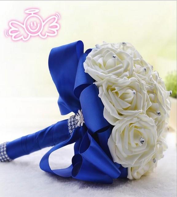 Бесплатная доставка 2016 свадебные цветы ремесла искусственные цветы невеста с цветами в руках День Святого Валентина подарки
