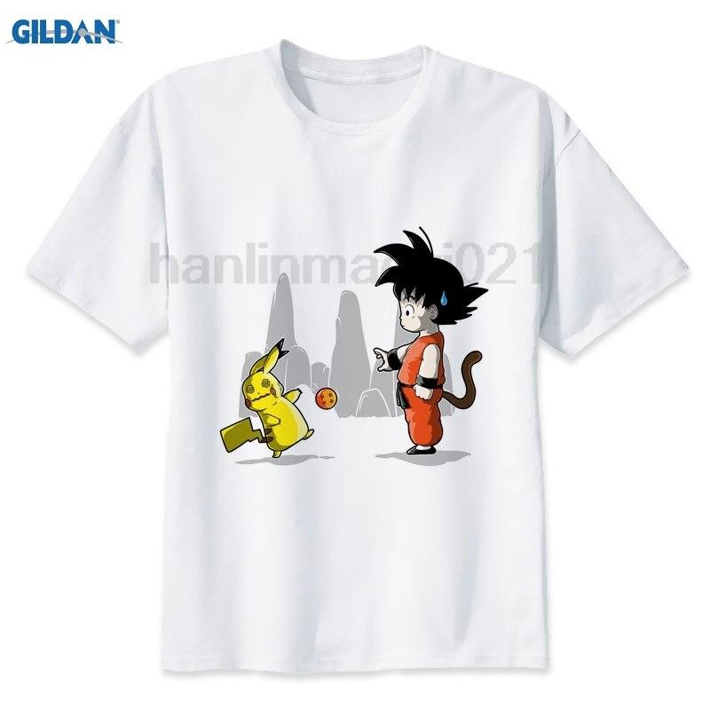 GILDAN Dragon Ball Z T Shirt for Men Dragon Ball Vegeta Goku Super Saiyan Fitness T -Shirt