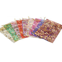 50Pcs Organza Bags Mixed Color Mini Jewelry Candy Bags Wedding Favors and Gifts Packing Sachet Bonbons Mariage(China)