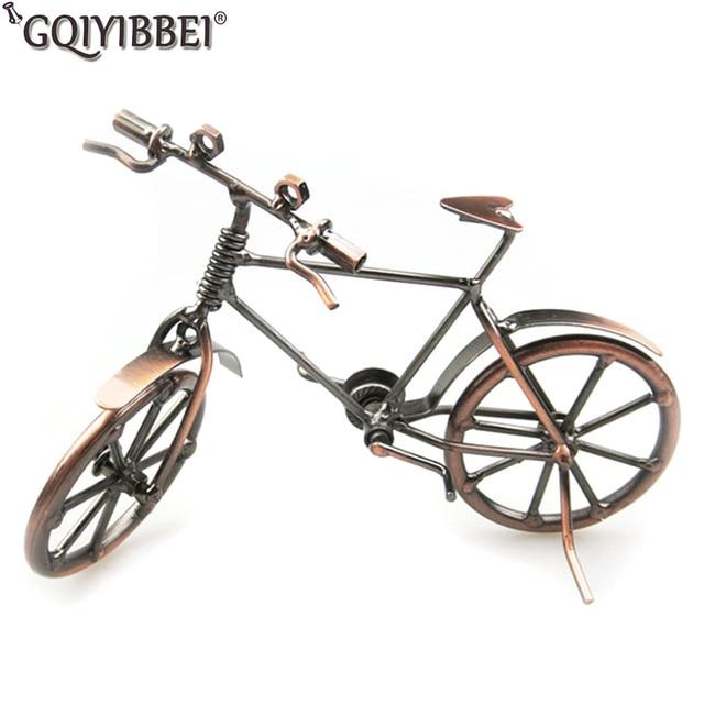 Us 1247 29 Di Scontogqiyibbei Modello Di Bicicletta Vintage Bar Decorazione Della Casa In Ottone Vite Di Colore Mobile Del Metallo Della Bici