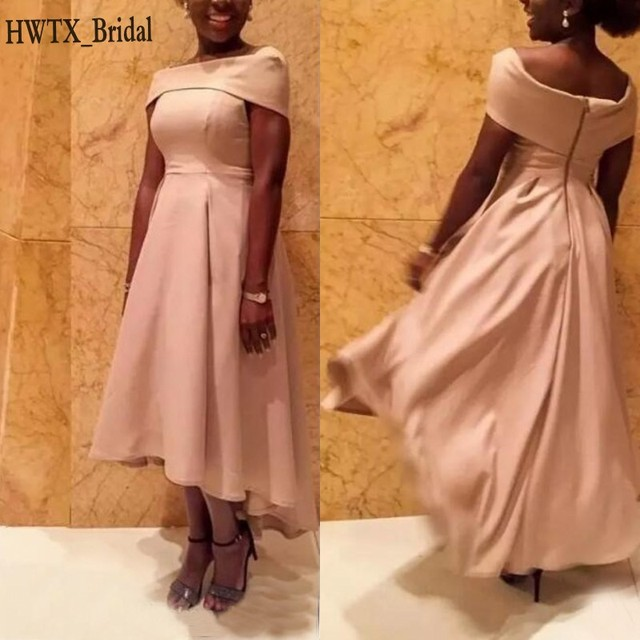 Elegant Hi Low Chiffon Mother Of The Bride Dresses Plus Size A Line Off  Shoulder Cheap Women African 2018 Prom Party Formal Gown 626002cf6398