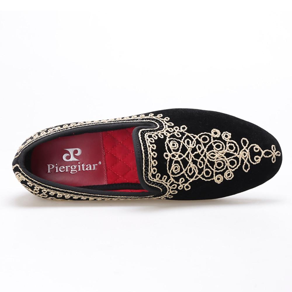 Mariage Chaussures Luxueux Gratuite 4 Brodé Partie De Pantoufles bleu Motif Noir Taille 14 Main Et Hommes Mocassins Velours rouge Paisley Livraison qFWzgT7wq