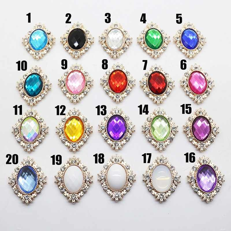 Detail Feedback Questions about 10PCS 19colors Bling Oval Rhinestone ... 355bc98eafa9