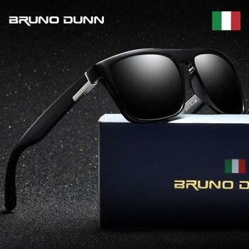 ee19a6d21f Bruno Dunn marca diseñador clásico polarizado gafas de sol hombres mujeres conducción  cuadrado gafas de sol hombre zonnebril mannen lunette femme
