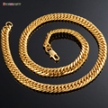 Starbeauty Trendy Golden Necklace Men Bracelet Gold Plated Punk Snake Necklace Chain Twisted Neckless Men Jewelry 50cm 55cm 60cm