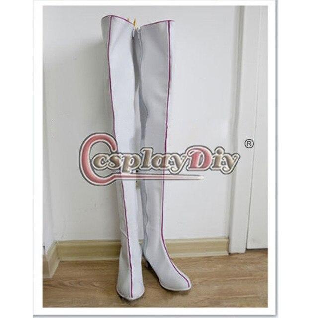 Batman Y Robin Cosplay Zapatos Botas Largas Blancas Para Adultos Fiesta de Carnaval Por Encargo D0831