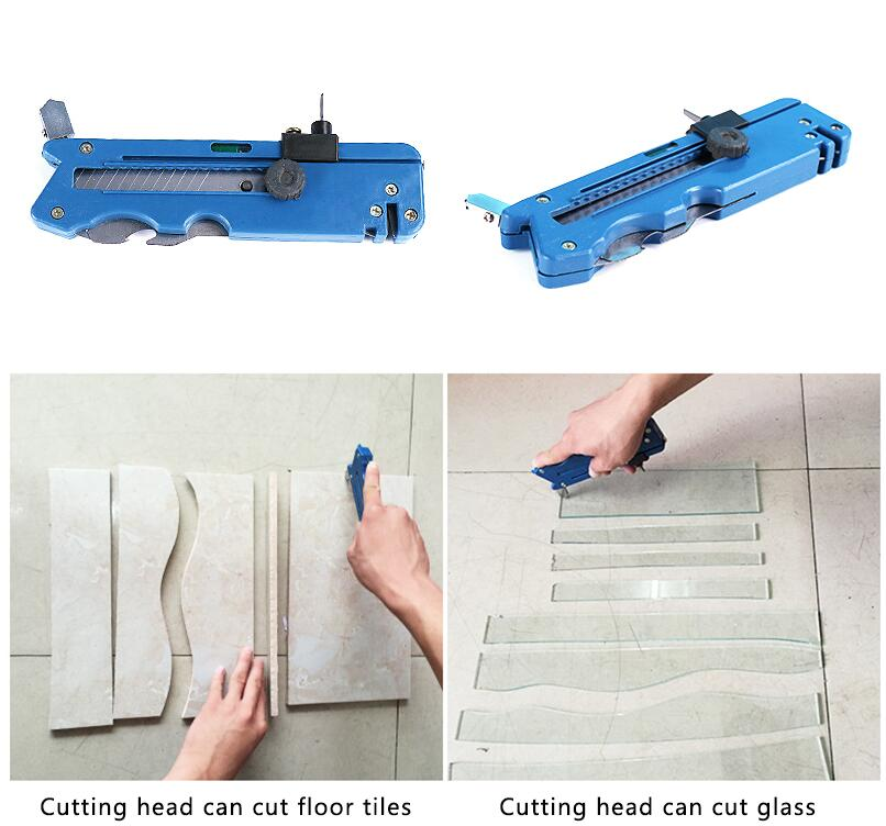 New Professiona tile cutter Glass Cutter Six Wheel Metal Cutting Kit Tool Multifunction Tile plastic cutter Tile plastic cutter