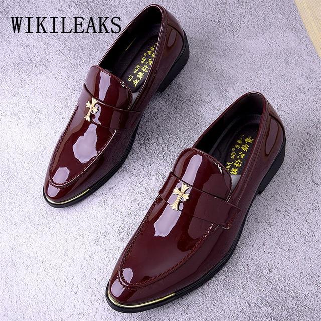 147ecf6cfc32 designer brand men dress shoes leather wedding dress man shoes italian  oxford shoes for men loafers men zapatos oxford hombre