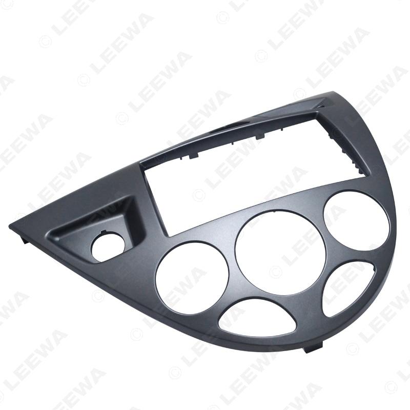 LEEWA Gray Car 2DIN Stereo Panel Fascia Radio Refitting Dash Trim Kit For Ford Focus 98~04(LHD)/Fiesta 95~01(LHD) #CA5054