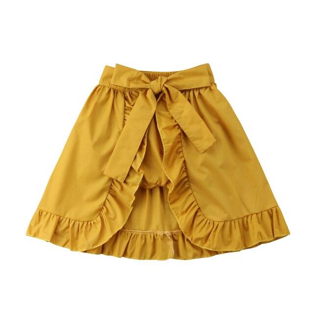 034526d4f0ed Newborn Baby Girl Clothes Shorts Skirts Ruffles Belt Bow Ruffle ...