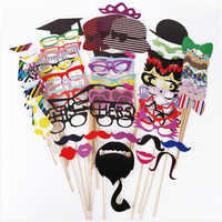 Nowy projekt kreatywny 76 sztuk/zestawów zabawy Photo Booth Prop wargi kolorowe karty na patyku ślub dekoracje na boże narodzenie maski imprezowe