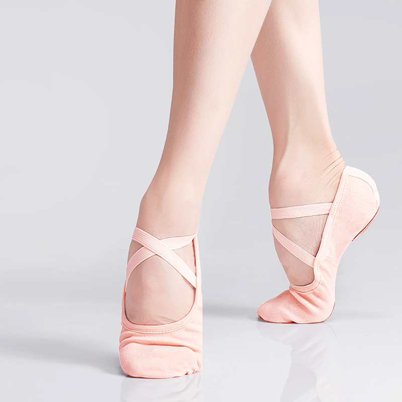 Girls Canvas Dance Practice Shoes Kids Teenager Soft Sole Elastic Ballet Shoes Children Adult Ballet Slippers