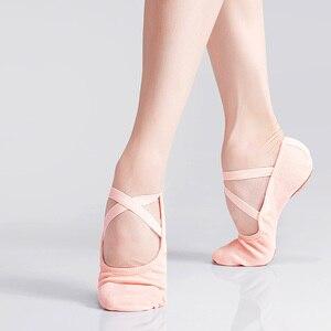 Filles toile danse pratique chaussures enfants adolescent semelle souple élastique Ballet chaussures enfants adulte Ballet pantoufles(China)