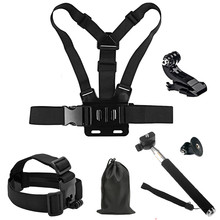 Accessories Kits for SJCAM SJ4000 SJ5000 Plus Xiaomi Yi 4K Monopod Head Chest Strap Mount Hero 4 3 Gopro Hero 5 Accessories стоимость