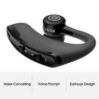 Bluenin V9 Business Wireless Bluetooth Headset With Microphone Handsfree Voice Prompt Bluetooth Headphones For Huawei P10