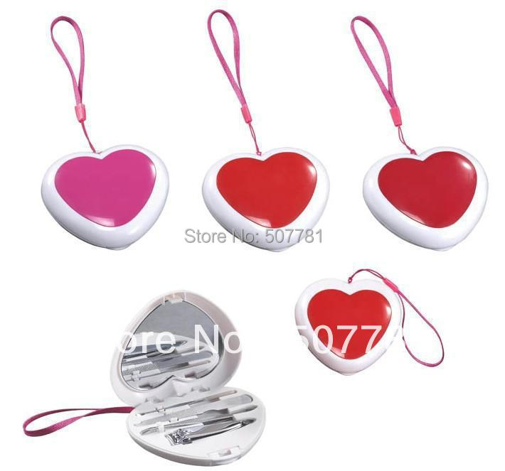 Customized Beauty Series Gifts With 4 Pcs Sets ,Nail Tools,Nail Clipper Item BP151 Loving Heart