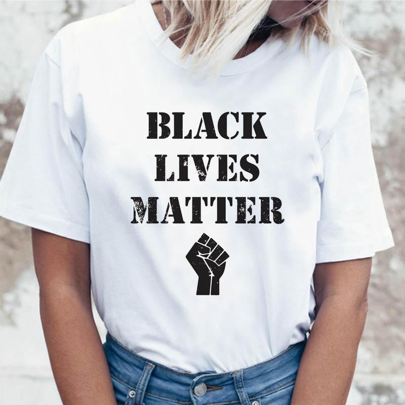 Black Lives Matter T Shirt Female Tshirt Tees Funny For Korean Clothing Graphic Harajuku T-shirt Top Ulzzang Women