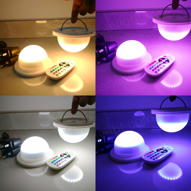 rgbw rechargeable remote control led table lamp