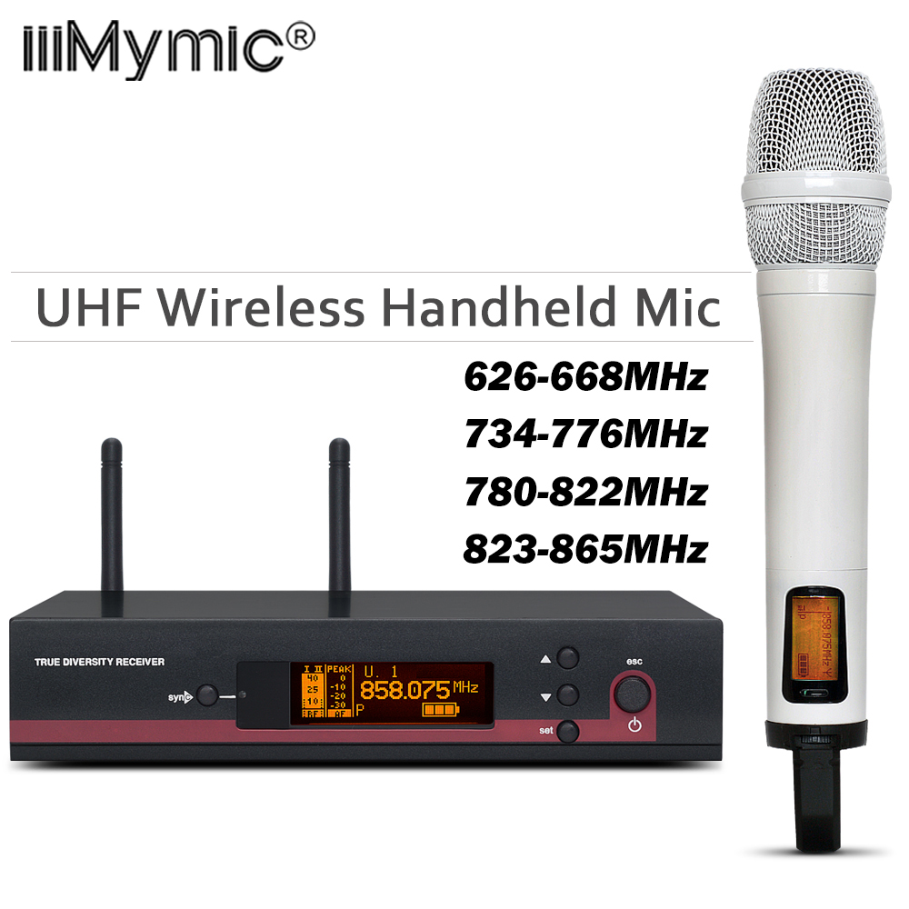 White Color !! 100% Top Quality 135 G3 Hot Sales Wireless single handheld mic UHF/PLL Wireless Microphone system for Stage|Microphones| |  - title=