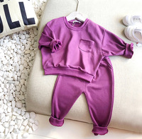Kids Clothing Sets Spring Autumn Cotton Casual Sweatshirt Pants 2pcs Toddler Girl Clothes Sport Suit for Boys Toddler Tracksuit