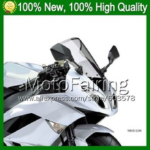 Light Smoke Windscreen For KAWASAKI NINJA 650R ER-6f 12-13 ER6F ER 6F ER6F 12 13 2012 2013 2012-2013 #-4 Windshield Screen