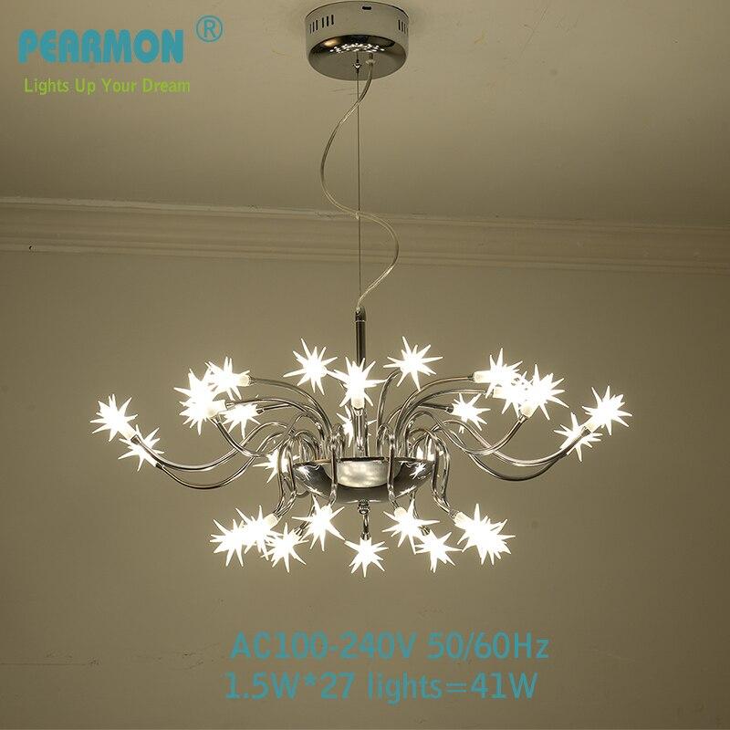 Modern LED Pendent lamp Creative light for dinning room restaurant bar shop meteor Chromed-Plated Polishing Chandelier G4 lights