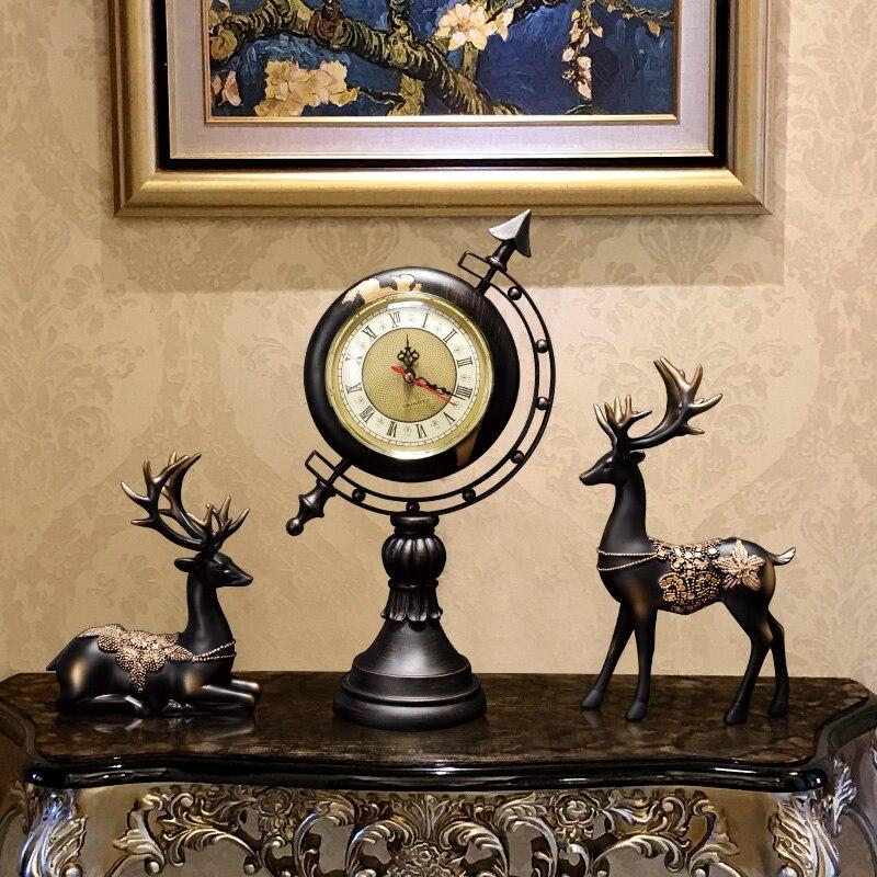 Européen et américain créatif Globe décoration maison salon bureau étude bureau décoration de la maison horloge Arrangement