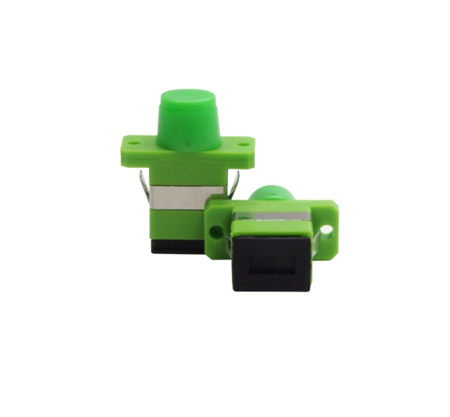 QIALAN FC/APC to SC/APC Hybrid Simplex Singlemode Plastic Fiber Optic Adapter, Female to Female