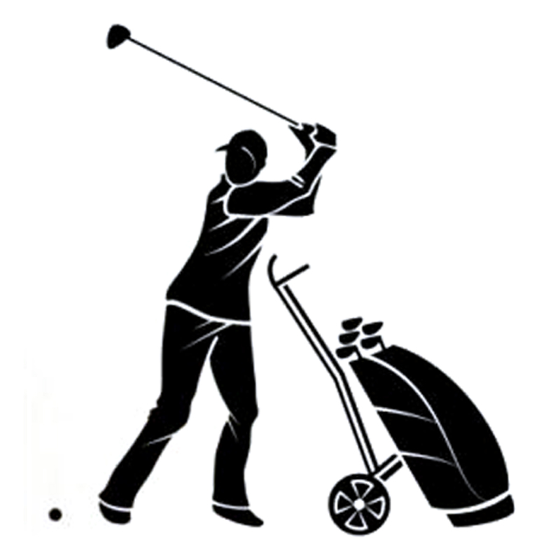 13.7CM*15CM Fashion Golf Lifestyle Sports Silhouette Decor Vinyl Car Sticker Black/Silver S9-0935