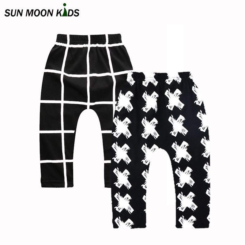 Sun Moon Kids 2Pieces/Lot New Arrival 2016 Baby Pants Newborn Boys Girls Trousers Autumn Bebes Clothing Infant Baby Boy Clothes