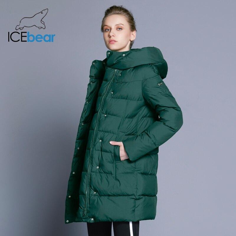 ICEbear 2018 Venta caliente de invierno para mujer Abrigos engrosamiento chaqueta y abrigo de alta calidad para mujeres Parka cinco colores 16G6128D