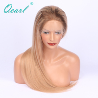 Ombre Blonde Color 150 Density Full Lace Human Hair Wigs With Baby Hair Pre Plucked Natural