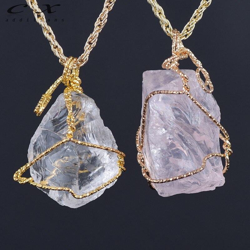 2018 Factory Rainbow Crystal Necklace Hippie Jewelry SPAR Wire Wrapped Stone Pendant Gypsy Jewelry Bohemian Necklace Crystal