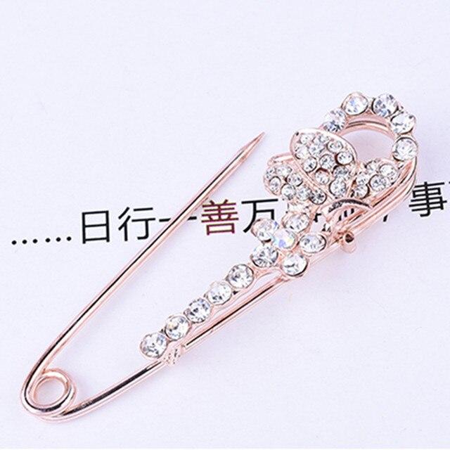 Chaude coréenne cristal strass papillon broches hijab broches pour homme femmes costume écharpe fleur broche broche bijoux accessoires cadeau