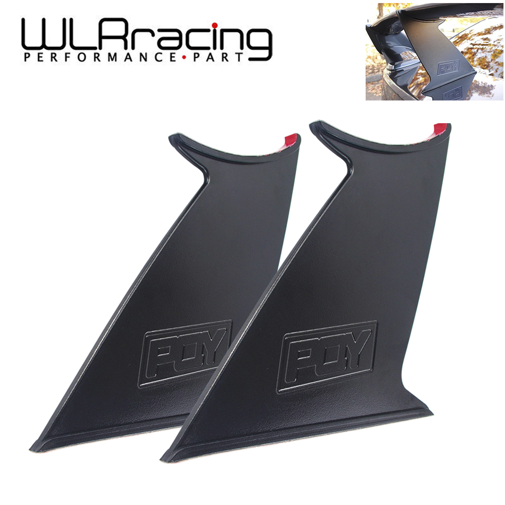 WLR RACING - Spoiler Wing Stabilizer For subaru STI 2015-18 Spoiler Wing Stiffi Support Rally With PQY logo One Pair JR-WSS02-2 цена