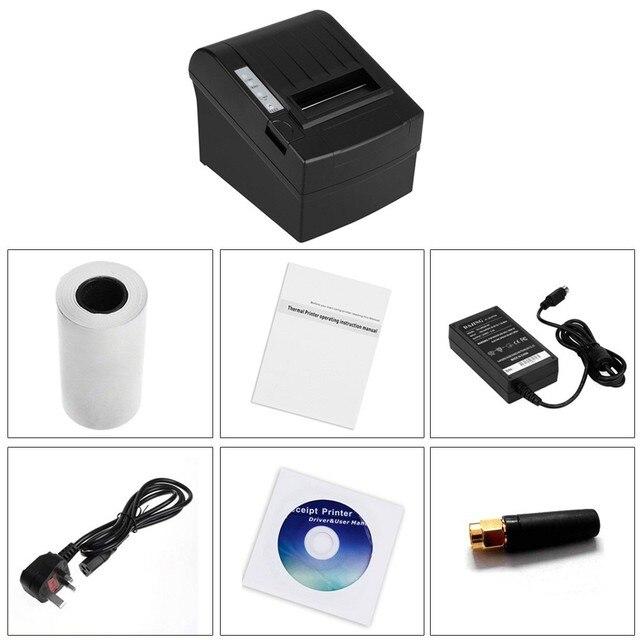 10 шт. 300 мм/сек. 80 мм беспроводной wi-fi чековый принтер ESC / POS автообрезки для кухни меню ресторана печать