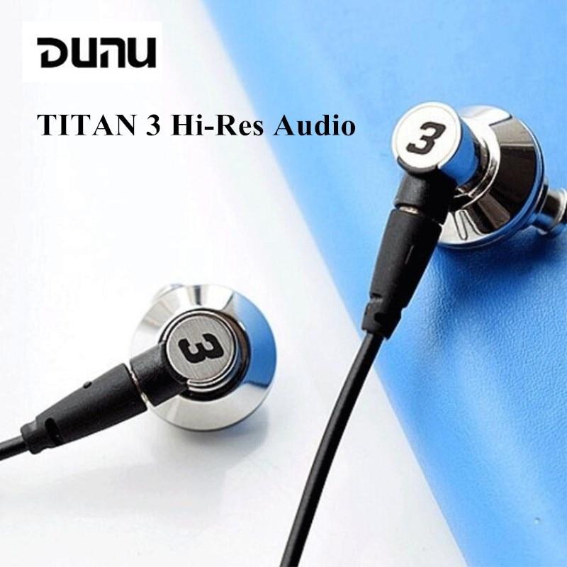 DUNU TITAN 3 salut-Res Audio écouteur Nano titane diaphragme dynamique écouteurs vocaux Hi Fi stéréo métal DJ casque pour lecteur de téléphones