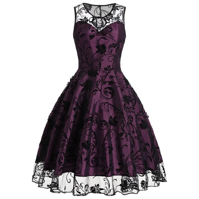 Sisjuly 2018 Summer Gothic Female Party Dress Goth Red Sexy Dresses Hollow Out A Line Green Dress Summer Strapless Retro Dresses 1