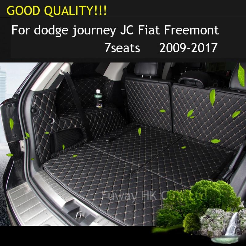 Trasporto libero auto trunk mat cargo mat per dodge journey JC Fiat Freemont 2009 2010 2011 2012 2013 2014 2015 2016 2008 2017