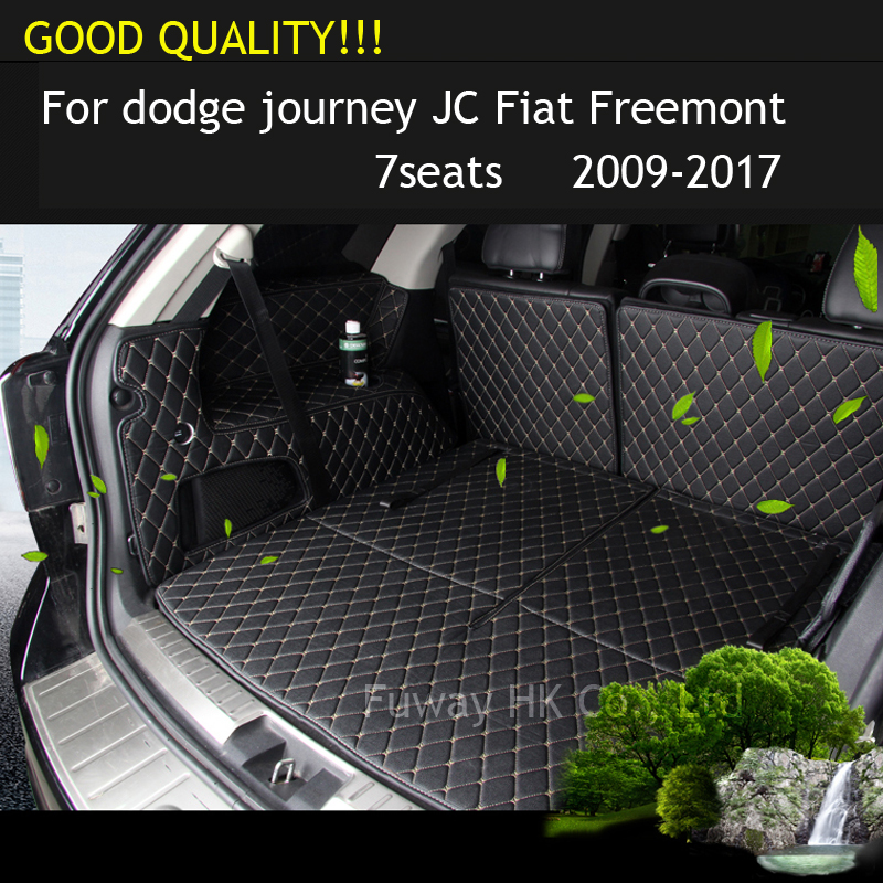 free shipping car trunk mat cargo mat for dodge journey JC Fiat Freemont 2009 2010 2011 2012 2013 2014 2015 2016 2008 2017 custom cargo liner car trunk mat carpet interior leather mats pad car styling for dodge journey jc fiat freemont 2009 2017
