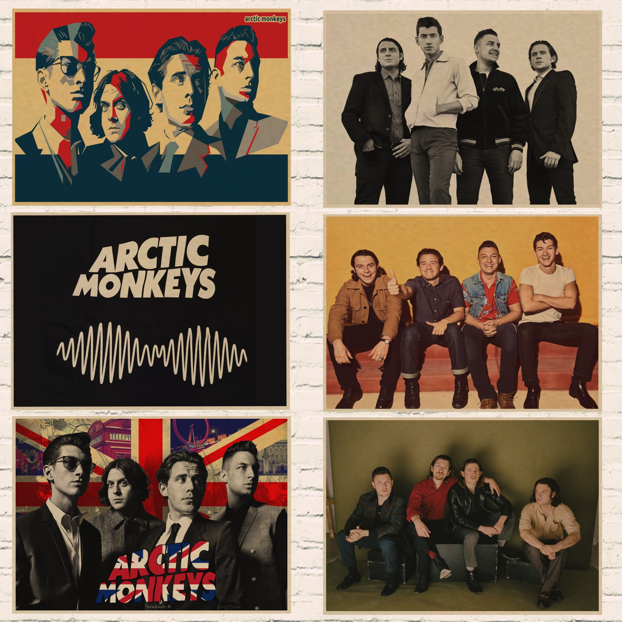 Arctic Monkeys Canvas Pictures UK British  Rock Band Music Wall Art Poster