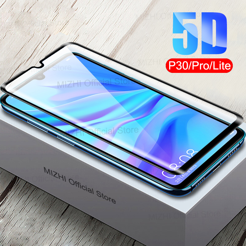 5D Curved Protective Glass On For Huawei P30 Pro Lite Tempered Glas P30pro P30lite P30 Light Hauwei Huavei P 30Pro 30Lite Case