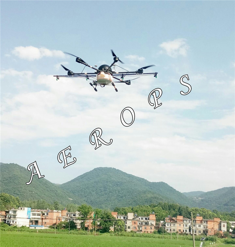Aerops AP6 15B 15KG 15L Volume Electronic Agricultural Six Axis Auto Semi auto Spraying Multicopter UAV