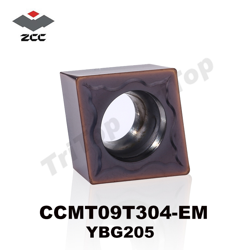 HOT SELL ZCC TOOL CCMT 09T304 EM YBG205 (10pcs/lot) ZCC . CT Cemented Carbide CNC Cutting tools turning insert CCMT09T304 цена