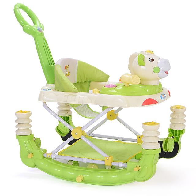Nuevo Patrón de Aprender A Caminar de Vehículos de Alta Calidad Niño caminantes bebé musical andador plegable multifuncional bebé aprender caminante