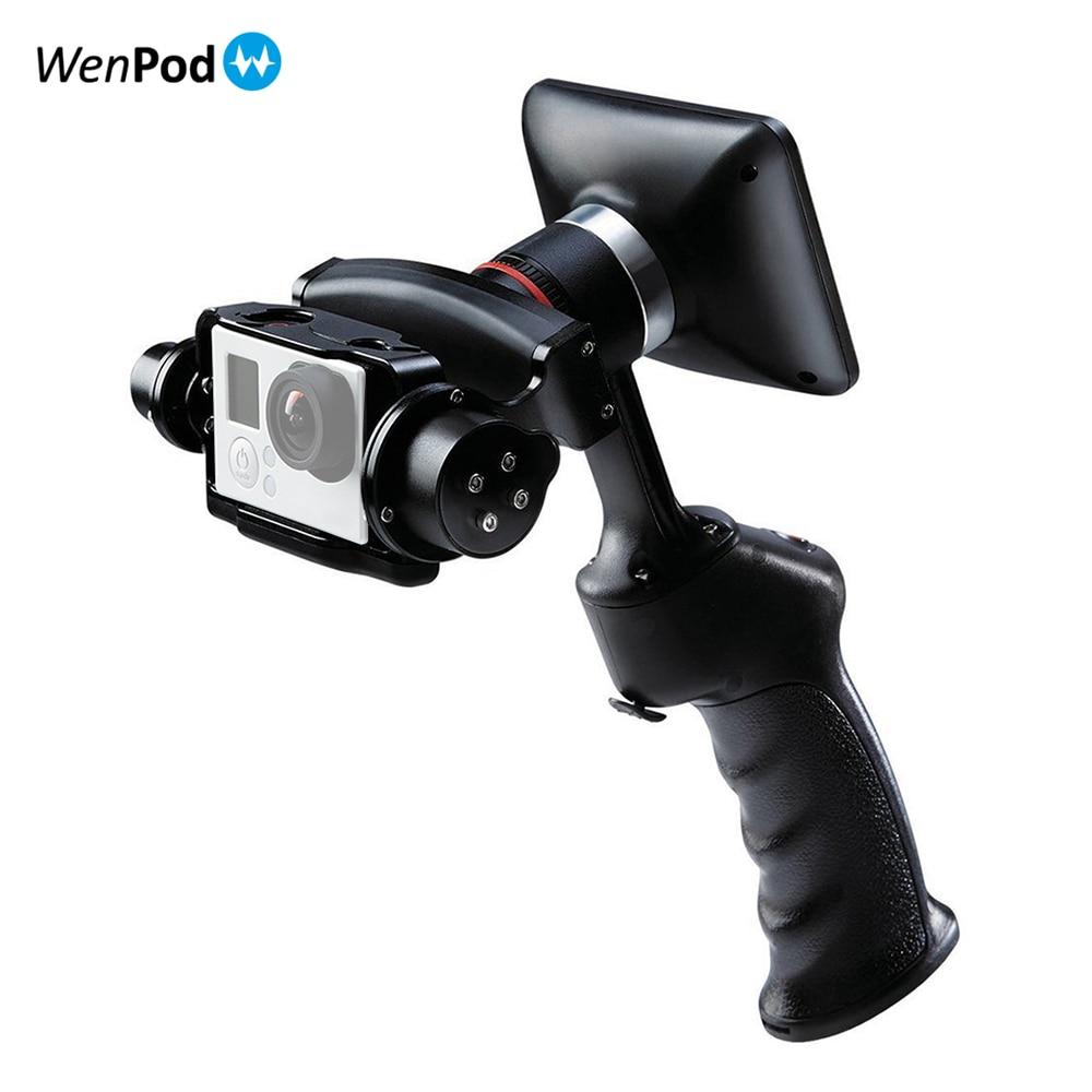bilder für Wenpod gp1 gopro kamera 2 achsen gimbal stabilizer handheld video gopro 3 3 + 4 mit 3,5 ''Monitor 2-achsen gimbal steadicam PK feiyu