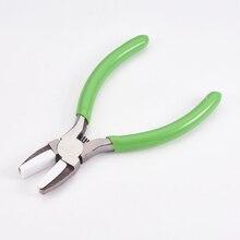 Pinze per perline piegate per gioielli a naso piatto in acciaio al carbonio pinze per naso a catena corta lucidatura strumenti per la creazione di gioielli 13.2x8.6x1cm