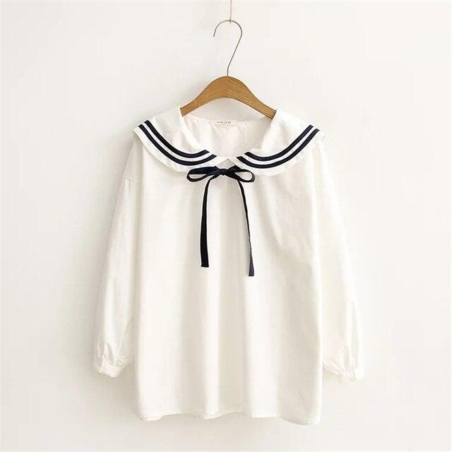 baccb1c72a63dd Automne-Style-Japonais-Femmes-De -Mode-Frais-Col-Marin-L-che-Long-Lanterne-Manches-Chemises-Arc.jpg 640x640.jpg