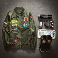 2017 Spring Mens Aviator Bomber Jackets Army Millitary Embroidery Flight Coat New Windbreaker Jaqueta Masculina Chaqueta Hombre